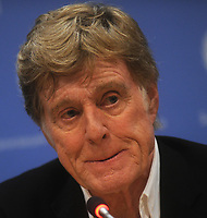 """NEW YORK, NY - JUNE 30: Robert Redford told the United Nations on Monday that negotiations on a global deal to tackle climate change could be the world's """"last chance"""" to save the planet on June 30, 2015 in New York City<br /> <br /> <br /> People:  Robert Redford<br /> <br /> T"""