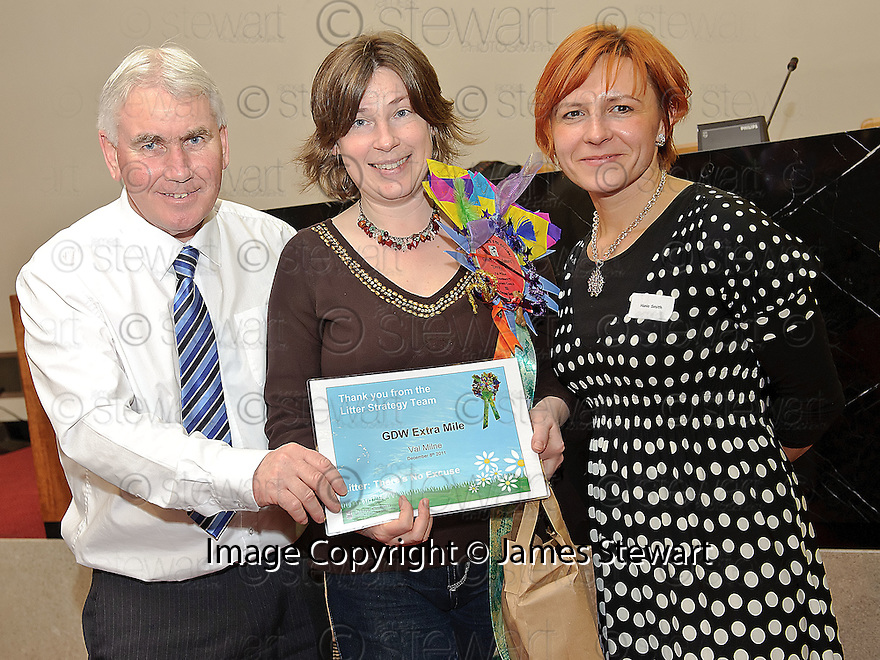 Litter Strategy Awards 2012. GDW extra Mile, Val Milne.