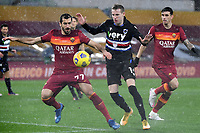 Henrikh Mkhitaryan of AS Roma and Jakub Jankto of UC Sampdoria compete for the ball during the Serie A football match between AS Roma and UC Sampdoria at Olimpico stadium in Roma (Italy), January 3rd, 2021. Photo Andrea Staccioli / Insidefoto