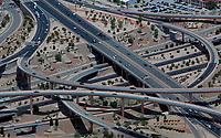 aerial photograph of interstate I-40 and I-25 interchange Albuquerque, New Mexico