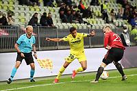 26th May 2021; STADION GDANSK  GDANSK, POLAND; UEFA EUROPA LEAGUE FINAL, Villarreal CF versus Manchester United:  VILLARREAL's YEREMI PINO challenged by LUKE SHAW