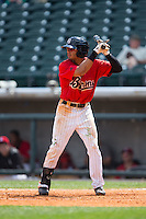 Jacob May (20) of the Birmingham Barons at bat against the Tennessee Smokies at Regions Field on May 4, 2015 in Birmingham, Alabama.  The Barons defeated the Smokies 4-3 in 13 innings. (Brian Westerholt/Four Seam Images)