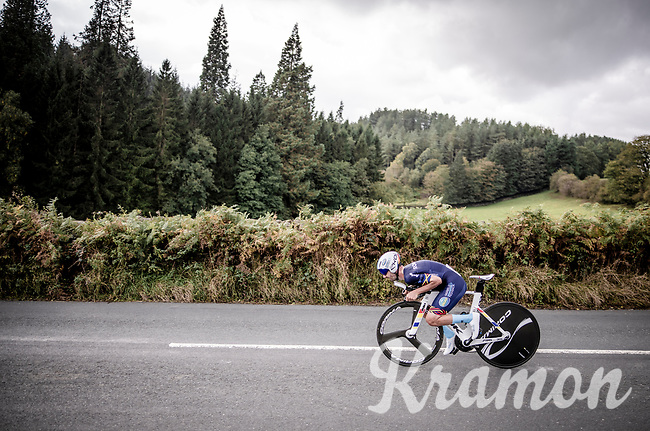 Eduard-Michael Grosu (ROM)<br /> Elite Men Individual Time Trial<br /> from Northhallerton to Harrogate (54km)<br /> <br /> 2019 Road World Championships Yorkshire (GBR)<br /> <br /> ©kramon