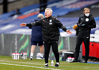 13th March 2021; Selhurst Park, London, England; English Premier League Football, Crystal Palace versus West Bromwich Albion;  West Bromwich Albion Assistant Coach Sammy Lee shouting instructions to the West Bromwich Albion players from the touchline