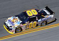 Feb 07, 2009; Daytona Beach, FL, USA; NASCAR Sprint Cup Series driver David Reutimann during practice for the Daytona 500 at Daytona International Speedway. Mandatory Credit: Mark J. Rebilas-