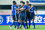 FC Schalke Midfielder Amine Harit (R) celebrating his goal with his teammates during the Friendly Football Matches Summer 2017 between FC Schalke 04 Vs Besiktas Istanbul at Zhuhai Sport Center Stadium on July 19, 2017 in Zhuhai, China. Photo by Marcio Rodrigo Machado / Power Sport Images