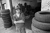 - young car repairer in the harbor district of Palermo....- giovane meccanico nel quartiere del porto a Palermo