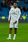 Rodrygo Goes of Real Madrid warm up before La Liga match between Real Madrid and CD Leganes at Santiago Bernabeu Stadium in Madrid, Spain. October 30, 2019. (ALTERPHOTOS/A. Perez Meca)