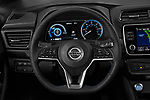 Car pictures of steering wheel view of a 2020 Nissan Leaf SV 5 Door Hatchback Steering Wheel