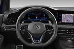 Car pictures of steering wheel view of a 2021 Volkswagen Golf R 5 Door Hatchback Steering Wheel