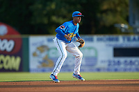 Myrtle Beach Pelicans shortstop Aramis Ademan on defense against the Winston-Salem Dash at TicketReturn.com Field on May 16, 2019 in Myrtle Beach, South Carolina. The Dash defeated the Pelicans 6-0. (Brian Westerholt/Four Seam Images)