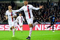 Kylian Mbappe forward of PSG celebrates scoring a goal  <br /> Bruges 22-10-2019 <br /> Club Brugge - Paris Saint Germain PSG <br /> Champions League 2019/2020<br /> Foto Panoramic / Insidefoto <br /> Italy Only