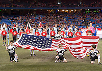 March 9, 2013: Sporting KC during the opening ceremonies in a game between Toronto FC and Sporting Kansas City at the Rogers Centre in Toronto, Ontario Canada..Toronto FC won 2-1.