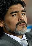 27.06.2010, Soccer City Stadium, Johannesburg, RSA, FIFA WM 2010, Argentina (ARG) vs Mexico (MEX), im Bild Coach of Argentina Diego Maradona. EXPA Pictures © 2010, PhotoCredit: EXPA/ Sportida/ Vid Ponikvar