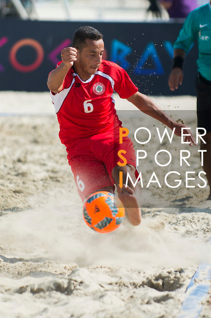 MECHLEB MATAR Mohamad of Lebanon in action during the Beach Soccer Men's Team Bronze Medal Match between Lebanon and Afghanistan on Day Nine of the 5th Asian Beach Games 2016 at Bien Dong Park on 02 October 2016, in Danang, Vietnam. Photo by Marcio Machado / Power Sport Images
