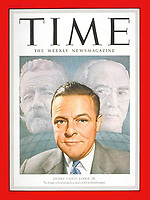 Time Cover, Henry Cabot Lodge, 12-17-1951. Photo by John G. Zimmerman (B&W photo with color by illustrator).