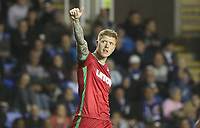 Alfie Mawson of Swansea City celebrates scoring his sides first goal of the match during the Carabao Cup Third Round match between Reading and Swansea City at Madejski Stadium, Reading, England, UK. Tuesday 19 September 2017