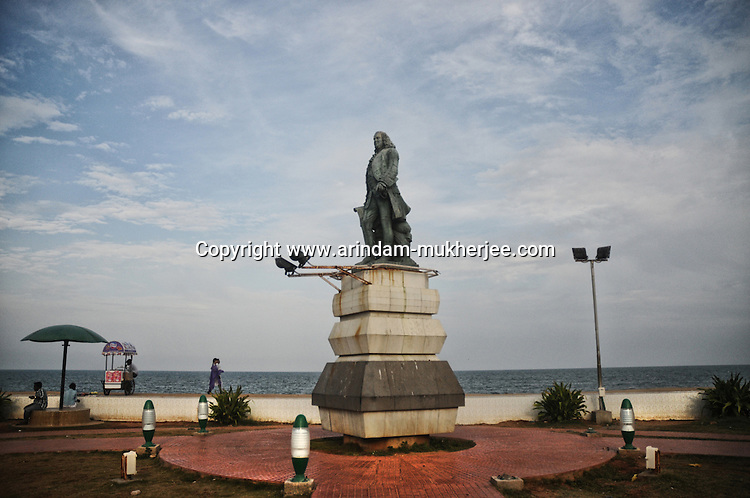 Statue of Marquis Duplex (the French Govornor) in Pondicherry. Arindam Mukherjee.