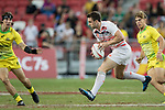 Charlie Hayter of England runs with the ball during the match Australia vs England, the Bronze Final of Day 2 of the HSBC Singapore Rugby Sevens as part of the World Rugby HSBC World Rugby Sevens Series 2016-17 at the National Stadium on 16 April 2017 in Singapore. Photo by Victor Fraile / Power Sport Images
