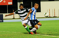 BARRANCABERMEJA - COLOMBIA, 11-02-2021: Real San Andres y Valledupar F. C., durante partido de la fecha 5 por el Torneo BetPlay DIMAYOR 2021 en el estadio Daniel Villa Zapata de la ciudad de Barrancabermeja. / Real San Andres and Valledupar F. C., during a match of the 5th for the BetPlay DIMAYOR 2021 Tournament at the Daniel Villa Zapata stadium in Barrancabermeja city. Photo: VizzorImage / Jose D Martinez / Cont.