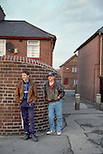 Teenagers with nothing to do in the ex-pit village of Grimethorpe, South Yorkshire, which lost its major source of employment when the colliery closed in 1993.