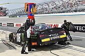 #18: Riley Herbst, Joe Gibbs Racing, Toyota Supra Monster Energy, makes a pit stop