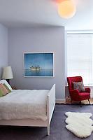 art deco white bedroom