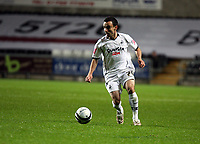 Pictured: Leon Britton of Swasnea City in action <br /> Re: Coca Cola Championship, Swansea City Football Club v Queens Park Rangers at the Liberty Stadium, Swansea, south Wales 21st October 2008.