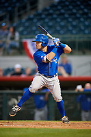 Dunedin Blue Jays designated hitter Connor Panas (27) at bat during a game against the Florida Fire Frogs on April 10, 2017 at Osceola County Stadium in Kissimmee, Florida.  Florida defeated Dunedin 4-0.  (Mike Janes/Four Seam Images)