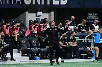 ATLANTA, GA - APRIL 24: Atlanta United coach Gabriel Heinze watches his team during a game between Chicago Fire FC and Atlanta United FC at Mercedes-Benz Stadium on April 24, 2021 in Atlanta, Georgia.