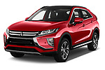2018 Mitsubishi Eclipse Cross Style 5 Door SUV angular front stock photos of front three quarter view