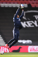 17th October 2020; Vitality Stadium, Bournemouth, Dorset, England; English Football League Championship Football, Bournemouth Athletic versus Queens Park Rangers; Seny Dieng of Queens Park Rangers warms up