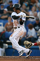 April 10th 2009:  Shortstop Justin Jackson of the Dunedin Blue Jays, Florida State League Class-A affiliate of the Toronto Blue Jays, during a game at Dunedin Stadium in Dunedin, FL.  Photo by:  Mike Janes/Four Seam Images