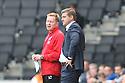 MK Dons manager Karl Robinson (r) and assistant Gary Waddock<br />  - MK Dons v Stevenage - Sky Bet League One - Stadium MK, Milton Keynes - 28th September 2013. <br /> © Kevin Coleman 2013