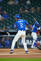 Trey Dawson (2) of the Kentucky Wildcats at bat against the Louisiana Ragin' Cajuns in game seven of the 2018 Shriners Hospitals for Children College Classic at Minute Maid Park on March 4, 2018 in Houston, Texas.  The Wildcats defeated the Ragin' Cajuns 10-4. (Brian Westerholt/Four Seam Images)