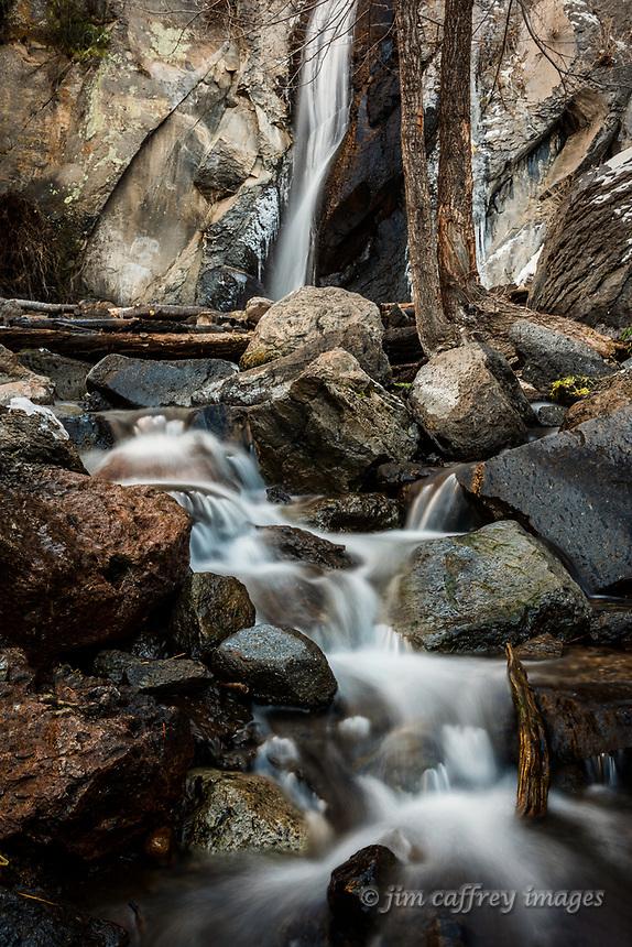 A small cascade in Hidden Canyon  in New Mexico's Jemez Mountains