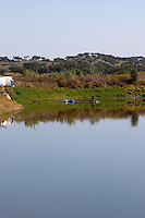 irrigation dam herdade de sao miguel alentejo portugal