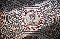Roman Mosaic from the Cubilcle with Erotic Scene, room 24, at the Villa Romana del Casale,  4th century AD. Sicily, Italy. A UNESCO World Heritage Site.