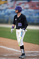 Niagara University Purple Eagles Julian Gallup (20) at bat during a game against the Ohio State Buckeyes on February 20, 2016 at Holman Stadium at Historic Dodgertown in Vero Beach, Florida.  Ohio State defeated Niagara 10-7.  (Mike Janes/Four Seam Images)