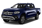 2018 Mercedes Benz X Class Power 4 Door Pick Up angular front stock photos of front three quarter view