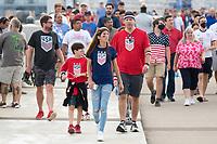 NASHVILLE, TN - SEPTEMBER 5: USA Fans walk before a game between Canada and USMNT at Nissan Stadium on September 5, 2021 in Nashville, Tennessee.