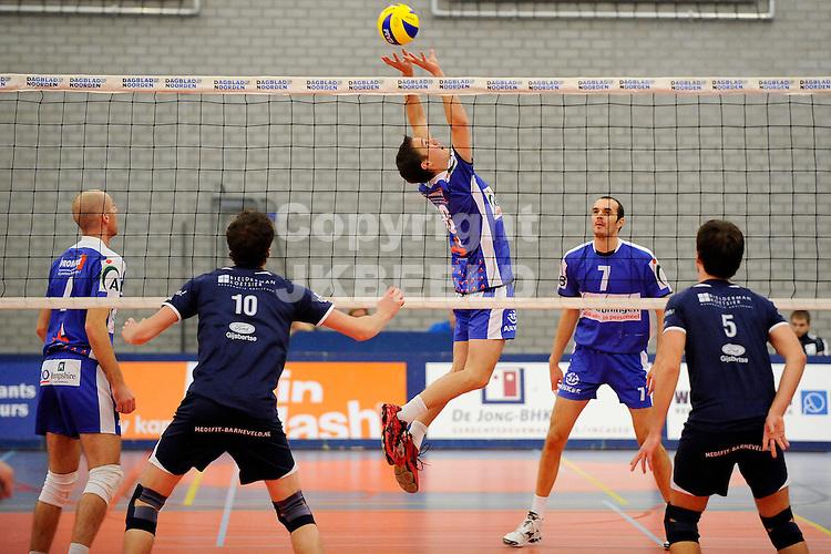 volleybal lycurgus - sss seizoen 2010-2011 27-11-2011 achterwaartse setup robbert andringa