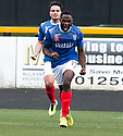 Cowdenbeath's Kudus Oyenuga (19) celebrates after he scores their first goal.
