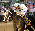 May 16, 2014: Revolutionary with Mike Smith wins the Grade III Pimlico Special Stakes, 3-year olds & up, going 1 3/16 mile at Pimlico Racetrack. Trainer: Todd Pletcher . Owner:Winstar Farm, LLC . Sue Kawczynski/ESW/CSM