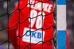 Till Klimpke (Deutschland #98) ; Tor / Netz / EHF EURO-Qualifikation / EM-Qualifikation / Handball-Laenderspiel: Deutschland - Estland am 02.05.2021 in Stuttgart (PORSCHE Arena), Baden-Wuerttemberg, Deutschland, Photo: Sandy Dinkelacker 2021<br /> <br /> Foto © PIX-Sportfotos *** Foto ist honorarpflichtig! *** Auf Anfrage in hoeherer Qualitaet/Aufloesung. Belegexemplar erbeten. Veroeffentlichung ausschliesslich fuer journalistisch-publizistische Zwecke. For editorial use only.