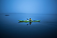 Ulrika Larsson sea kayaking, Swedish West Coast