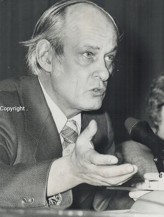 Quebec premier Rene Levesque,<br /> <br /> 1975<br /> <br /> PHOTO :  Bob Olsen - Toronto Star Archives - AQP