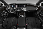Stock photo of straight dashboard view of 2017 Mercedes Benz S-Class S65-AMG 2 Door Convertible Dashboard