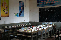 The library at the Hope Project school.   Zhulin Hope School was built by Project Hope, initiated and organised by the China Youth Development Foundation, a non-profit making social organisation.  Its aim is to offer free education to the rural poor, particularly girls, who otherwise would have no education at all.
