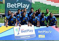 TUNJA - COLOMBIA, 30-01-2021: Jugadores de Boyaca Chico F. C., posan para una foto, antes de partido de la fecha 3 entre Patriotas Boyaca F. C., y Boyaca Chico F. C., por la Liga BetPlay DIMAYOR I 2021, jugado en el estadio La Independencia de la ciudad de Tunja. / Players of Boyaca Chico F. C., pose for a photo, prior a match of the 3rd date between Patriotas Boyaca F. C., and Boyaca Chico F. C., for the BetPlay DIMAYOR I 2021 League played at the La Independencia stadium in Tunja city. / Photo: VizzorImage / Macgiver Baron / Cont.